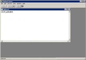 Tampilan Clipbrd Windows
