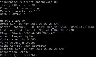 Informasi Server Apache Sebelum di Minimalisir