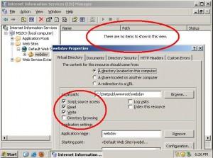Properti Direktori 'webdav' Pada Webserver