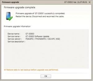 Proses Firmware Upgrade Selesai