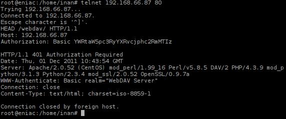 Respon Server Ketika HTTP Auth Salah