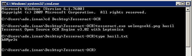 Contoh Captcha Weak Challenge-1 yang Terbaca oleh Tesseract-OCR