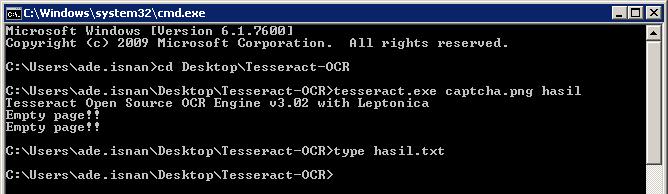 Captcha Kita (Challenge-2) Tidak dapat Terbaca oleh Tesseract-OCR