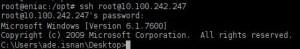 Akses Windows dengan SSH
