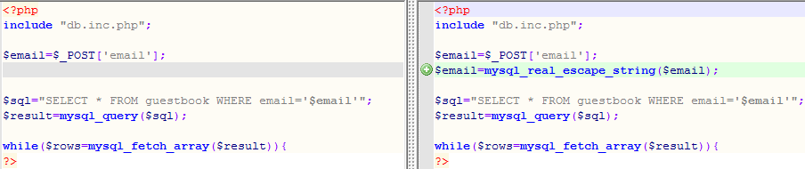 PHP Code: Before & After
